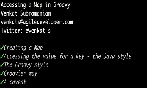 Accessing a map in groovy