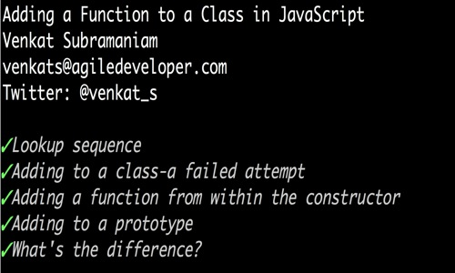 Adding a function to a class in javascript