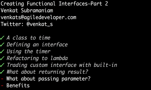 Creating functional interfaces part 2