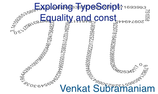 Exploring typescript const equality